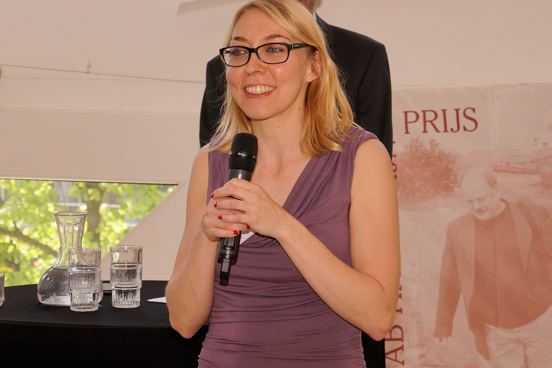 De winnares van 2015, Helma du Pont over wat de prijs betekent