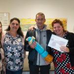 Winnares Ilona Ordelman en haar team